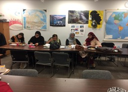 RED SHAWL PHOTOS OCTOBER 24, 2016 WITH NEWCOMERS AT POLYCULTURAL CENTRE